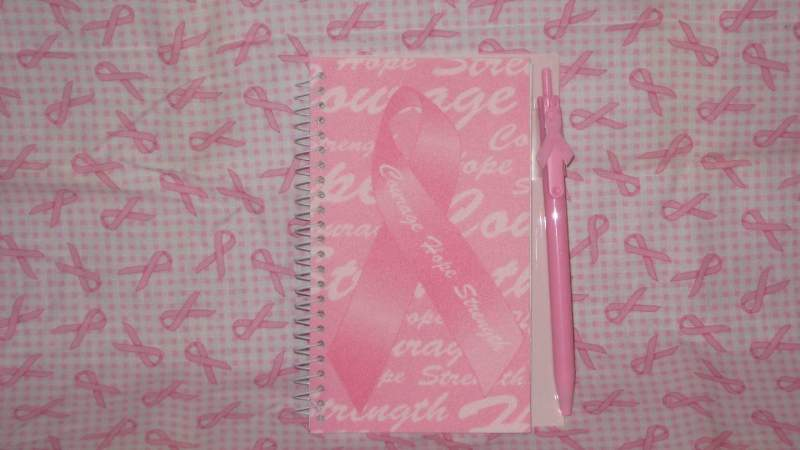 Breast Cancer Awareness Notebook With Pen