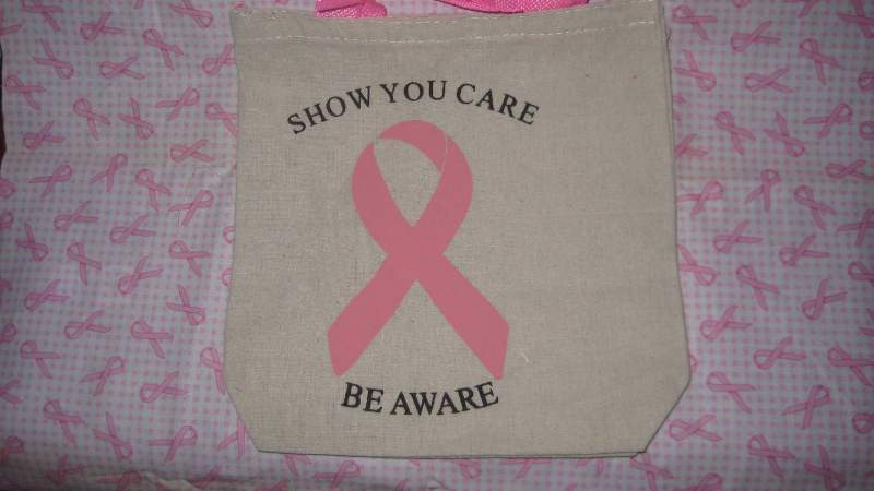 Breast Cancer Awareness Small Canvas Tote Bag