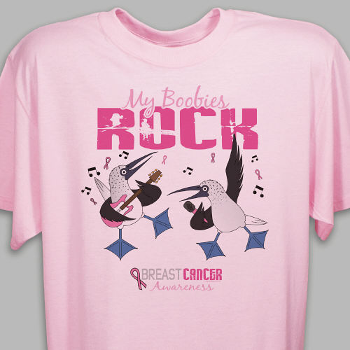 "Breast Cancer Awareness ""My Boobies Rock"" T-shirt"