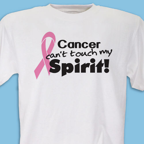 Cant Touch My Spirit Pink Ribbon T-Shirt