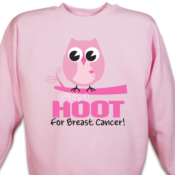 "Breast Cancer Awareness ""Give a Hoot"" Sweatshirt"