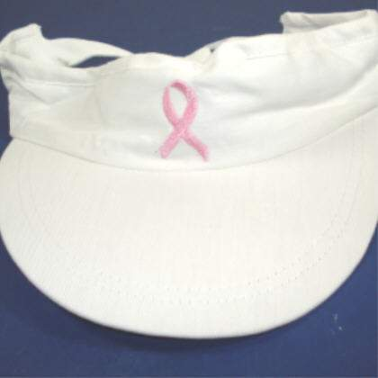 Visor w/ Pink Ribbon - Adjustable