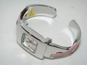 Pink Ribbon Bangle Watch