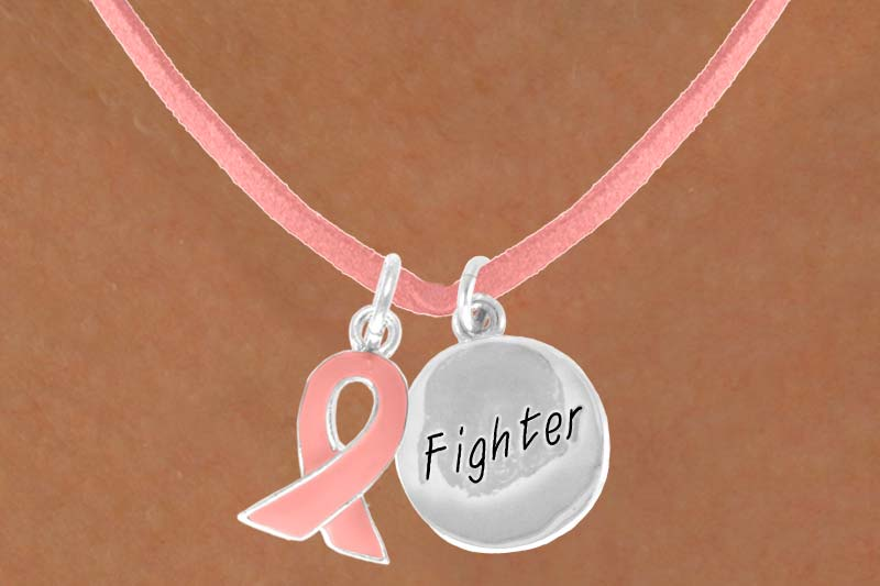 Fighter - Pink Suede Necklace
