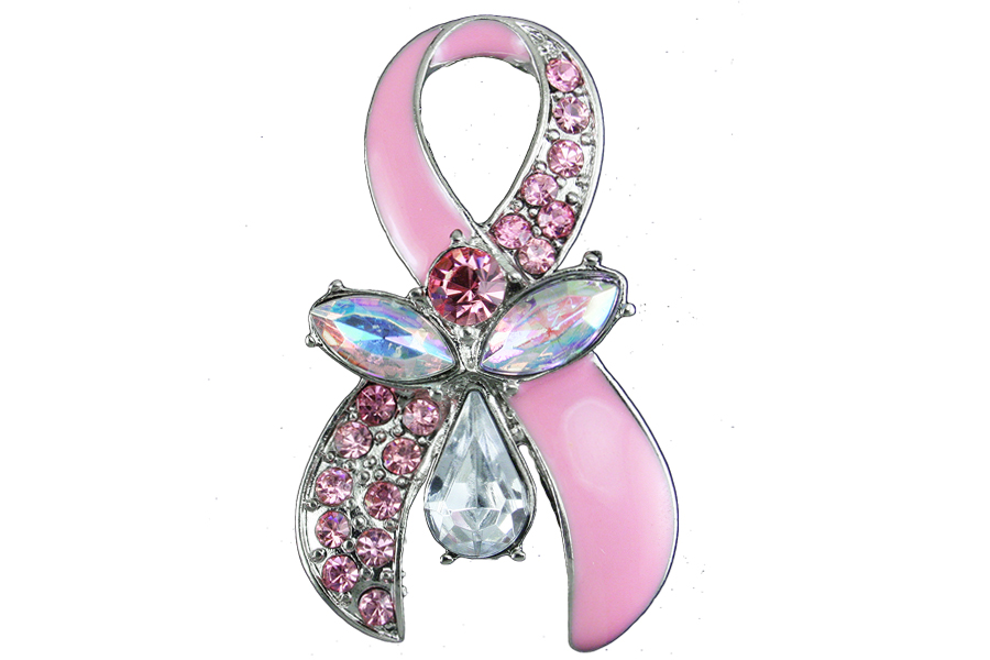 Austrian Crystal Breast Cancer Awareness Pink Hope Ribbon Angel