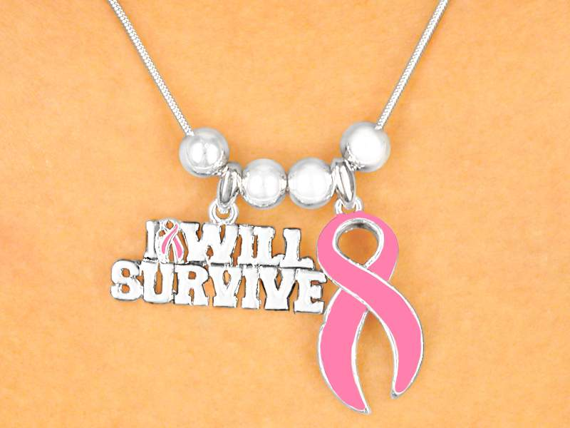 I will Survive Breast Cancer Necklace and Earring Set