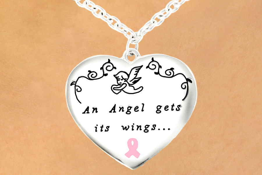 An Angel Gets Its Wings Awareness Necklace