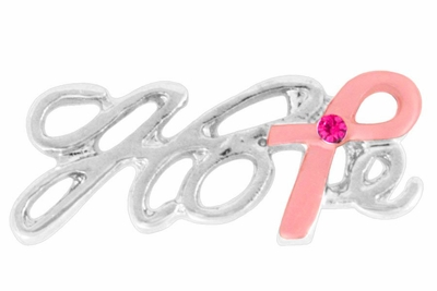 Hope Pink Ribbon Pin