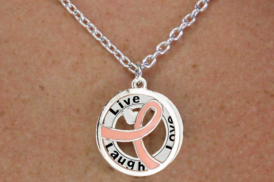 Live Laugh Love Disc Necklace and Earring Set